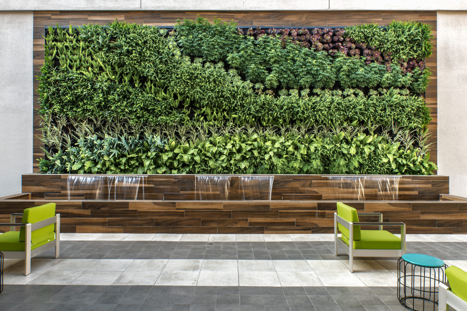 """Outdoor """"Living Wall"""" Installation brings Class A West Covina Office Project to Life"""